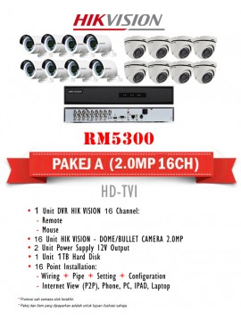 PACKAGES CCTV A 16CH