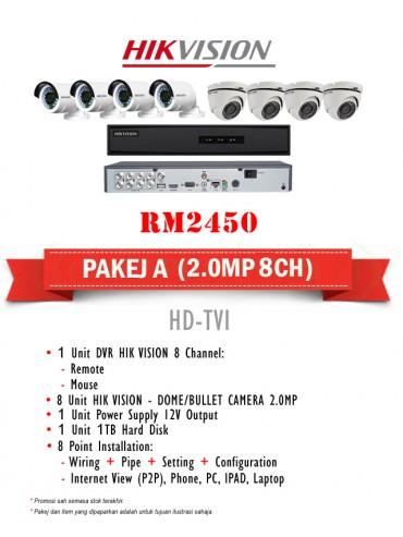 Packages CCTV A, Packages CCTV A, HD-TVI, 1 Unit HIKVISION 4
