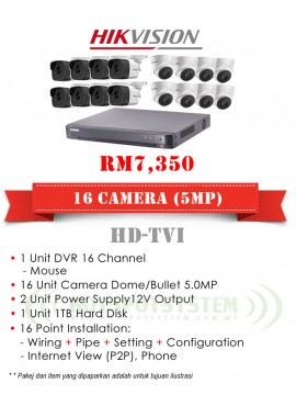 PACKAGES CCTV 8 CAMERA 8CH-5MP