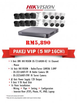 Packages 5MP CCTV 16 CH