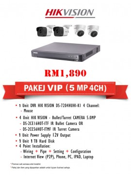 Packages 5MP CCTV 4 CH