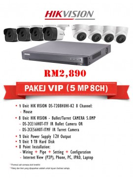 Packages 5MP CCTV 8 CH
